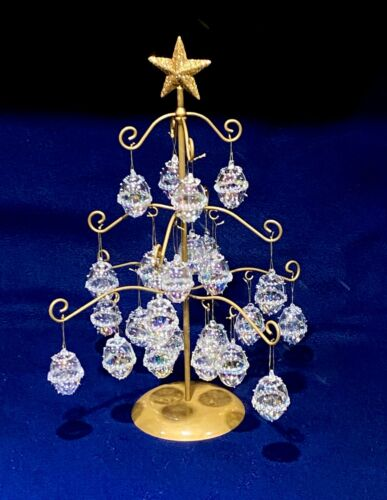 Miniature Blown Glass Ornament filled Christmas Tree ~ Beatiful, One Of A Kind !