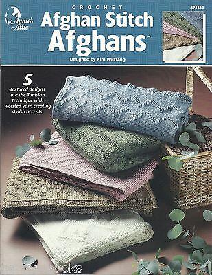Afghan Stitch Patterns (Afghan Stitch Afghans Tunisian Crochet Patterns Kim Wiltfang Annie's Attic)