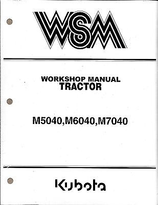 Kubota M5040 M5140 M6040 M7040 Tractor Workshop Service Manual