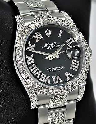 ROLEX DATEJUST 116200 36mm Black Diamond Dial & Bezel Oyster Perpetual *MINT*