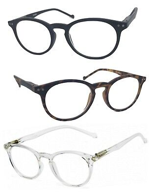 Small Round Oval Matte Frame Reading Glasses Spring Hinges John Lenon RE60 - Lenon Glasses