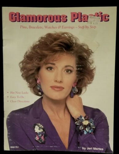 Vintage 1991 Glamorous Plastic Jewelry Craft Book MM1761 By Jeri Mertes