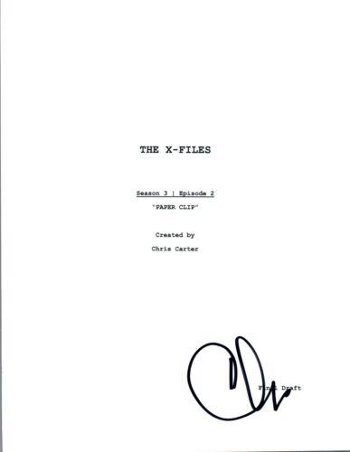 "Chris Carter Signed Autographed THE X-FILES ""Paper Clip"" Episode Script COA VD"