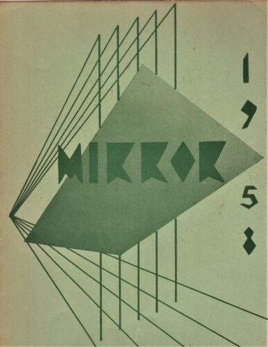"1958 ""Mirror"" - Palomar College Yearbook - San Marcos, California"