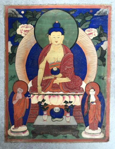 Beautiful Early 20th Mongolian Thangka (Tangka) of Buddha Shakyamuni.
