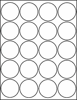 2 Inch Round White Matte Stickers Laser Inkjet Printable Labels 25 Sheets 4220m