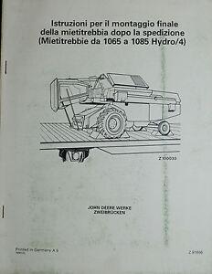 JOHN-DEERE-ISTRUZIONE-x-MONTAGGIO-FINALE-MIETITREBBIE-da-1065-a-1985-HYDRO-4