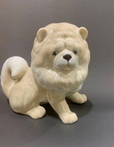 Porcelain Chow Chow figurine