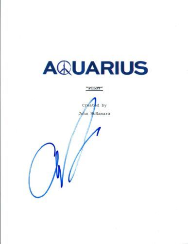 Grey Damon Signed Autographed AQUARIUS Pilot Episode Script COA VD