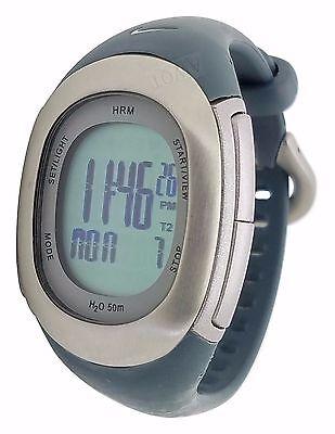 Nike Imara Heart Rate Monitor SM0032 Grey Silicone Chronograph Watch Pink (10 Heart Rate Monitor Watch)