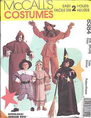 8384 UNCUT VTG McCall Pattern Halloween Costume Ghoul Scarecrow Pilgrim Witch FF - Scarecrow Halloween Costume Pattern