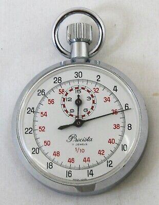 A Superb Military Quality Pocket Stop Watch by PRECISTA 7 Jewels 1/10 sec