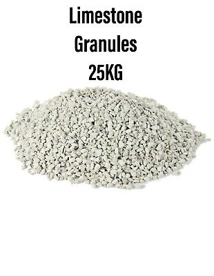 Limestone Granules  Horses Waterfoul Reptiles Chicken Ducks Poultry 25KG BMFD DS