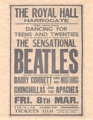 The Beatles Concert At Royal Hall w/ Barry Corbett > Concert Poster > Reprint