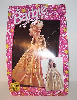 Vintage Halloween Costume- 90s Barbie Gold Sensations - Dress, Purse, Headpiece