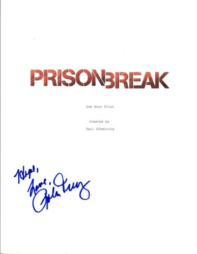 Robin Tunney Signed Autographed PRISON BREAK Pilot Episode Script COA VD