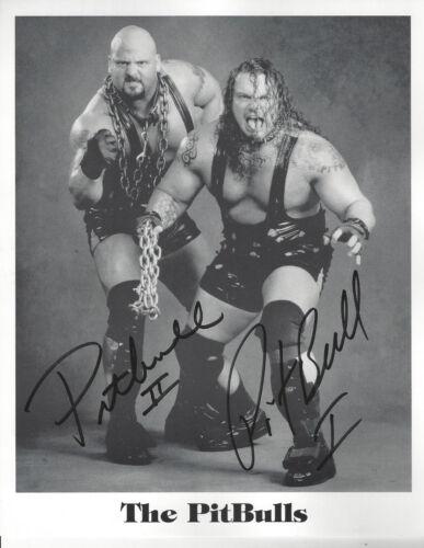 WWF Stars The Pit Bulls  autographed 8x10  photo  I and II