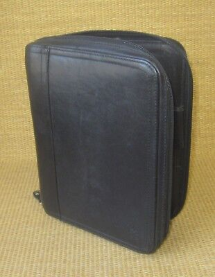 Classic 1.125 Rings Black Leather Franklin Covey Zip Plannerbinder Usa