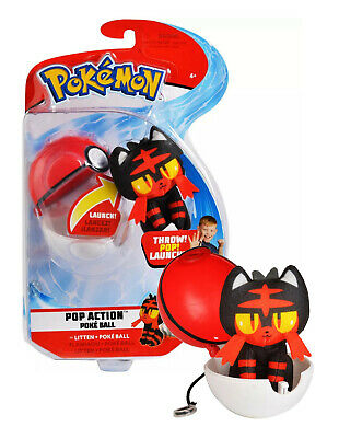 Pokemon Pop Action Poke Ball with Litton Plush Mint in Package