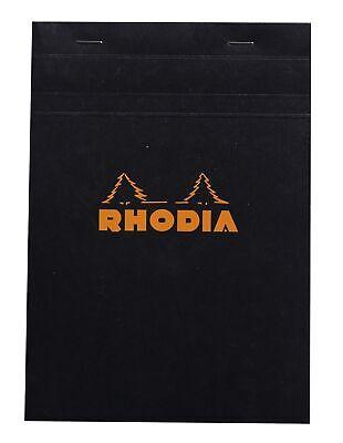 Rhodia Staplebound Notebook 6 X 8 Graph Paper Black