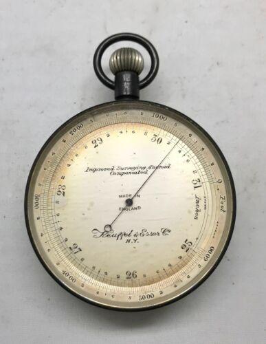 Antique Original Keuffel & Esser Co. Improved Surveying Aneroid Compensated