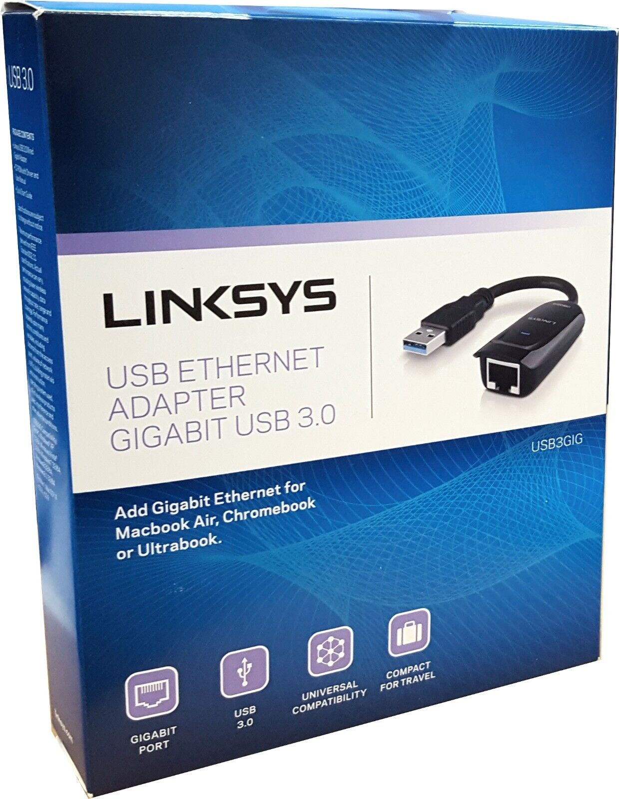 Linksys USB 3.0 Ethernet Adapter, Works with MacBook Air, Ch