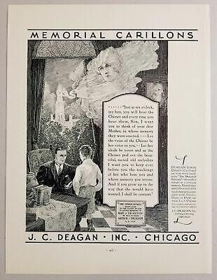 1931 Print Ad Deagan Tower Chimes Carillons $7250 Chicago,Illinois segunda mano  Embacar hacia Argentina
