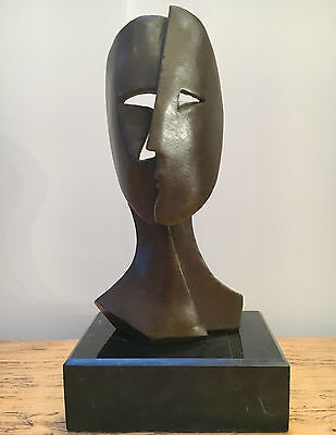 STUNNING ABSTRACT CONTEMPORARY PURE BRONZE SCULPTURE