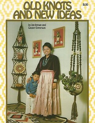 Old Knots and New Ideas Vintage Macrame Instruction Patterns Plant Hangers + NEW](Macrame Plant Hanger Instructions)
