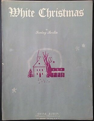 "1942 ""WHITE CHRISTMAS"" HOLIDAY SHEET MUSIC - IRVING BERLIN - GRAY COVER"