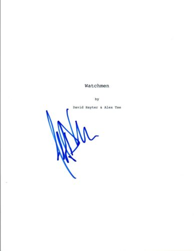 Jeffrey Dean Morgan Signed Autographed WATCHMEN Full Movie Script COA VD