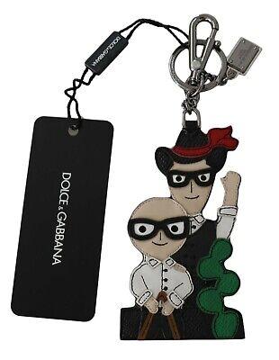 DOLCE & GABBANA Keychain Leather SICILIAN WESTERN Cowboy Clasp Keyring RRP $400