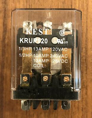 Kest Relay Krup120 Kr120 120v Coil 3pdt 120v240v Contacts Ice Cube Pkg. New Nos