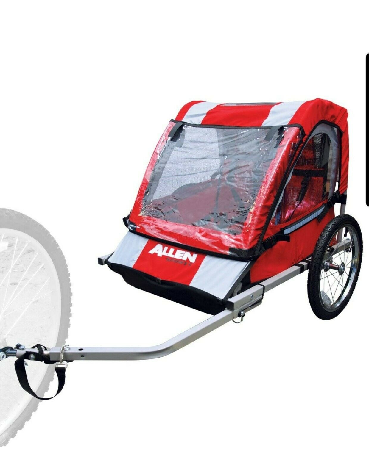 Allen Sports Steel Bicycle Trailer, Safe Lightweight Comfort