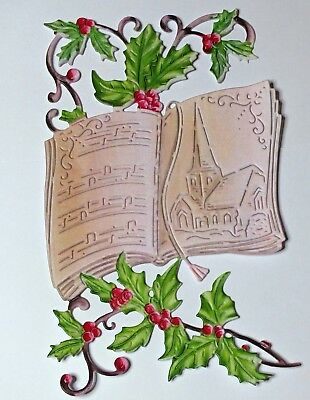!NEW! TATTERED LACE CHRISTMAS 2018 VINTAGE CAROL BOOK DIE CUT SETS - FREE P & P!