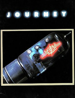 JOURNEY / STEVE PERRY 1986 RAISED ON RADIO TOUR CONCERT PROGRAM BOOK / EX 2 NM