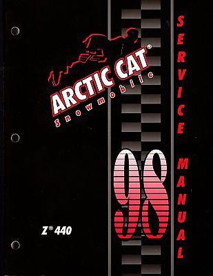 1998 arctic cat z 440 snowmobile service manual p/n 2255-729 (823)