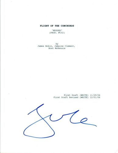 Jemaine Clement Signed FLIGHT OF THE CONCORDS Mugged Episode Full Script COA