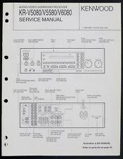 Kenwood KR-V5080/V5580/V6080 Original Av Receiver Service