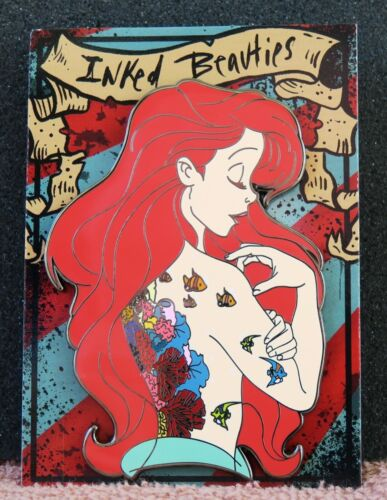 DISNEY FANTASY PIN ARIEL INKED BEAUTIES LE THE LITTLE MERMAID New On Card