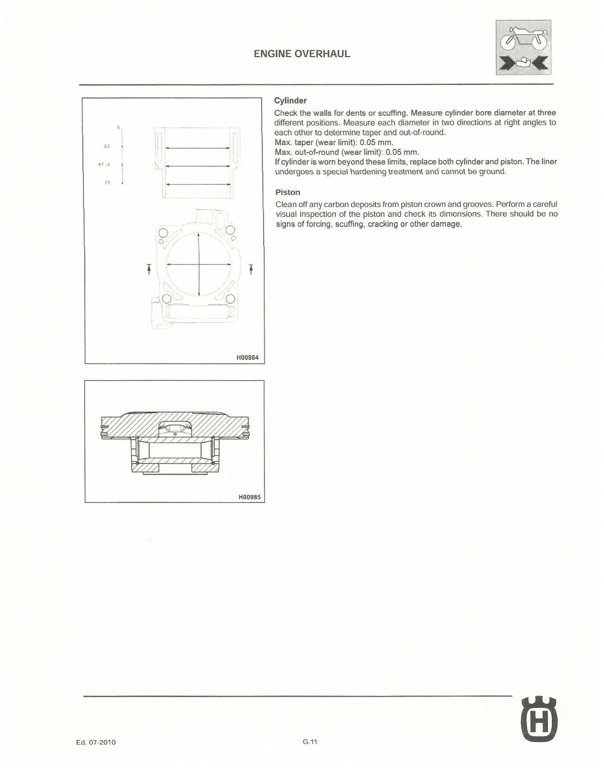 ... workshop service manual 2011 TC 250 11 of 12 Husqvarna ...