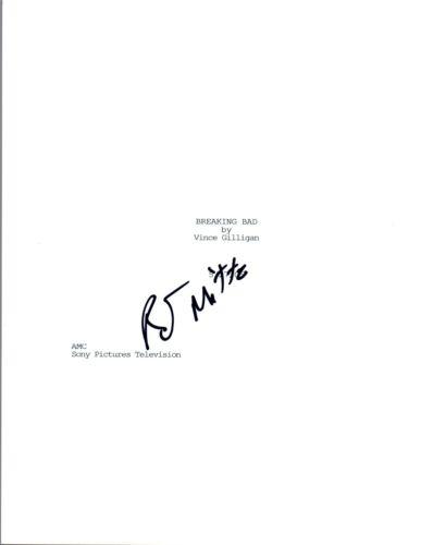 RJ Mitte Signed Autographed BREAKING BAD Pilot Episode Script COA VD
