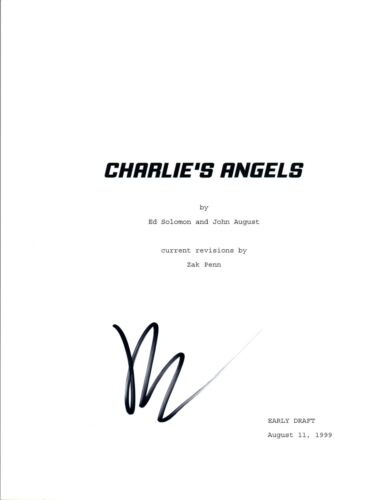 Drew Barrymore Signed Autographed CHARLIE'S ANGELS Full Movie Script COA