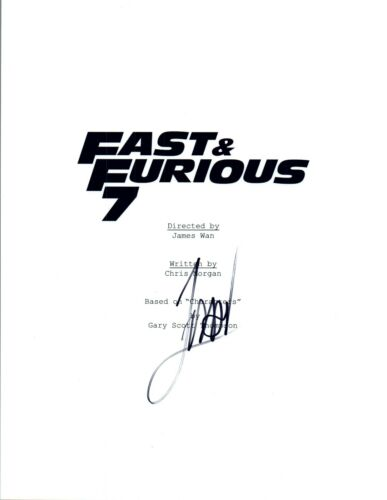 James Wan Director Signed Autographed FAST & FURIOUS 7 Movie Script COA