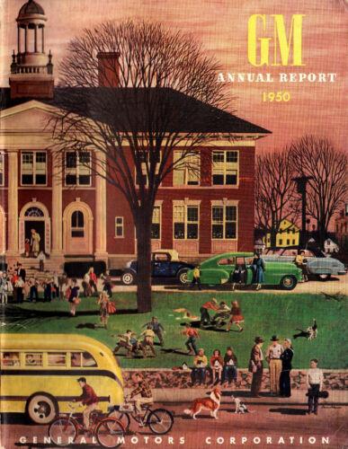 General Motors 1950 Annual Report Original GM Magazine