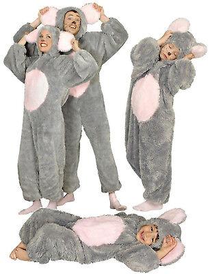 Kostüm Kleid Maus Minni Micky Ratte Mäuse Kinder Damen Overall (Ratte Kostüm Kind)