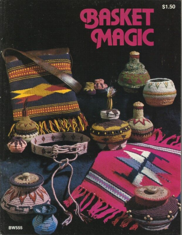 Basket Magic Vintage Basketry Pattern Instruction Book 1977