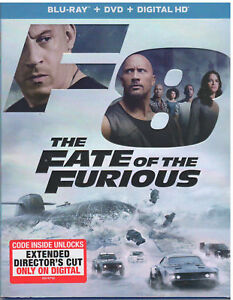 The Fate of the Furious Blu-Ray + DVD + Includes Digital W/ Slipcover FREE SHIP!