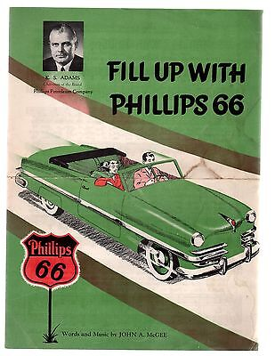 Fill Up With Phillips 66 1950  Sheet Music