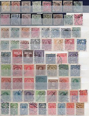 2 Albumseiten Österreich 1867-1934,145 verschiedene Briefmarken gestempelt (1)